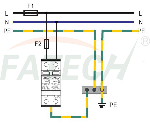 220v 1 phase surge protection device manufacturer supplier installation of 220v 1 phase surge protection device fv20c 2 xxx s