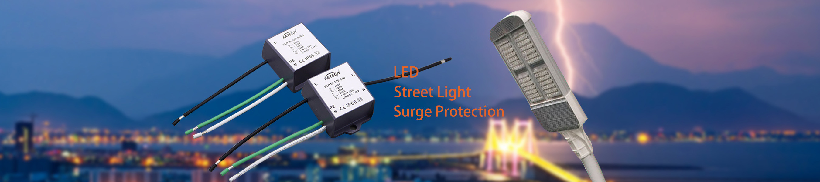 LED Street light surge protection