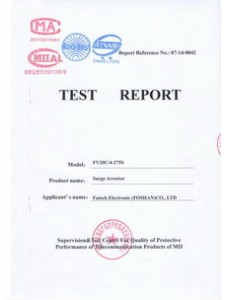 Test Report IEC61643-11:2011 FV20C