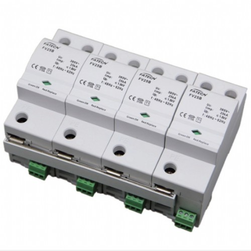 Three phase Iimp 25kA type 1 spark gap surge arrester